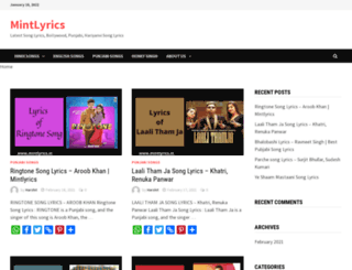 mintlyrics.in screenshot
