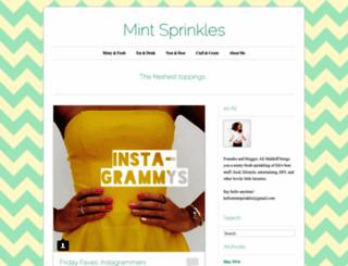 mintsprinkles.com screenshot