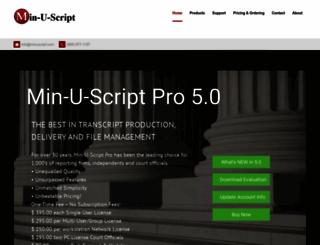 minuscript.com screenshot