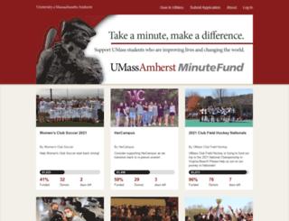minutefund.umass.edu screenshot