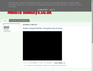 minuteholidays.co.uk screenshot