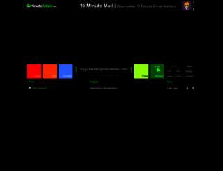 minuteinbox.com screenshot