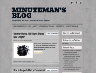 minutemantrucks.wordpress.com screenshot