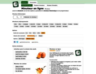 minuteur-en-ligne.fr screenshot