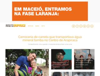 minutoarapiraca.com.br screenshot