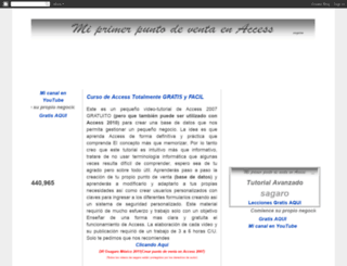 miprimerpuntodeventaenaccess2007.blogspot.mx screenshot