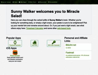 miraclesalad.com screenshot