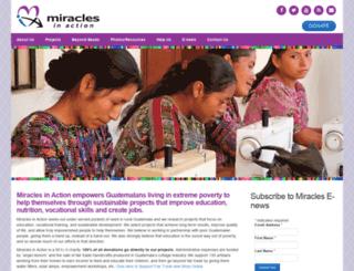 miraclesinaction.org screenshot
