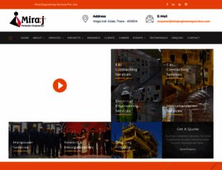 mirajengineeringservices.com screenshot