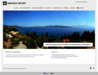 mirandaresort.gr screenshot
