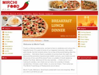 mirchifood.com screenshot