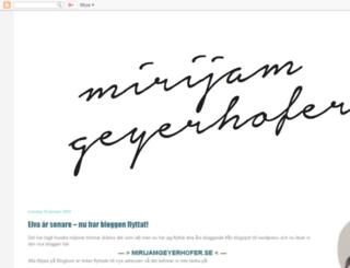 mirijam.blogspot.se screenshot