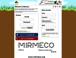 mirmeco.org screenshot