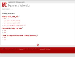 mirror.unl.edu screenshot