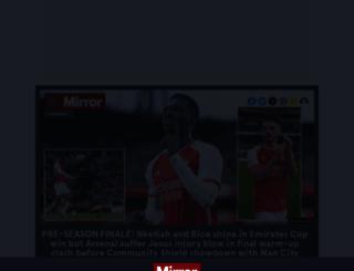 mirrorfootball.co.uk screenshot
