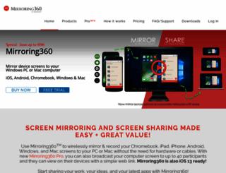 mirroring360.com screenshot