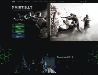 mirtis.lt screenshot