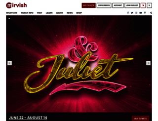 mirvish.com screenshot
