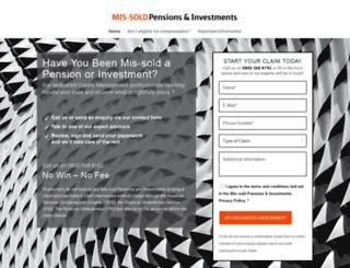 mis-soldinvestments.co.uk screenshot
