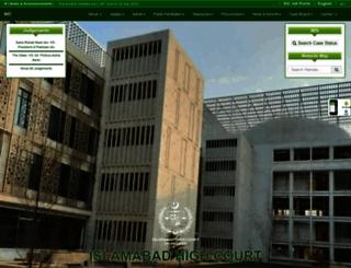 mis.ihc.gov.pk screenshot
