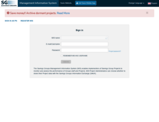 mis.thesavix.org screenshot