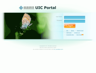 mis.uic.edu.hk screenshot