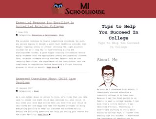 mischoolhouse.com screenshot