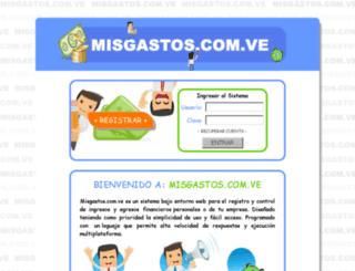 misgastos.com.ve screenshot