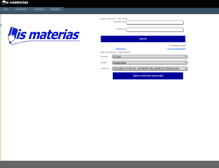mismaterias.net.ec screenshot