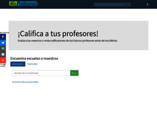 misprofesores.com screenshot