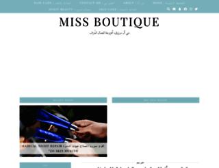 miss-boutique.com screenshot