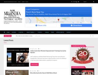 missindia.com.au screenshot