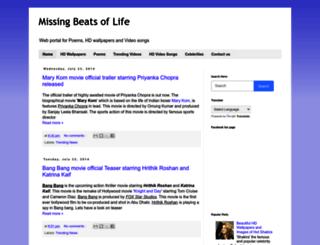 missingbeatsoflife.blogspot.com screenshot