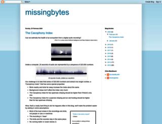 missingbytes.blogspot.com screenshot