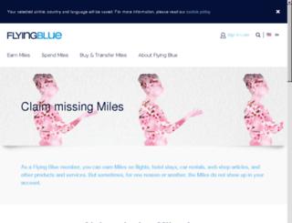 missingmiles.flyingblue.com screenshot
