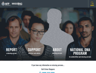 missingpersons.gov.au screenshot