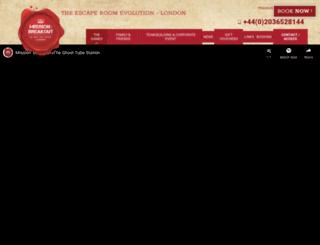 missionbreakout.london screenshot