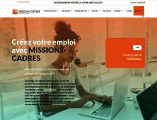 missions-cadres.com screenshot