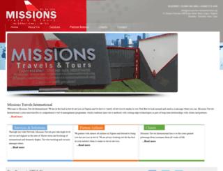 missionstravelsinternational.org screenshot