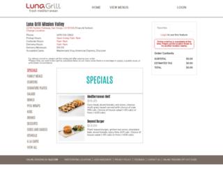 missionvalley.lunagrill.com screenshot