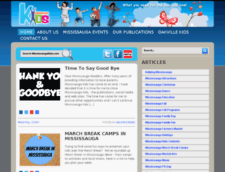 mississaugakids.com screenshot