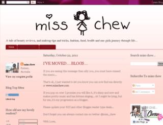 missjchew.blogspot.com screenshot
