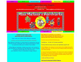 missmelissasaardvarks.com screenshot