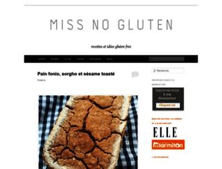 missnogluten.com screenshot