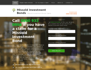 missold-investments-bond.co.uk screenshot