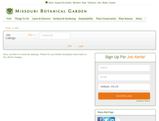 missouribotanicalgarden.applicantpro.com screenshot