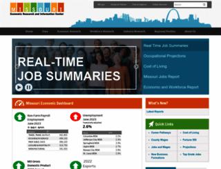 missourieconomy.org screenshot