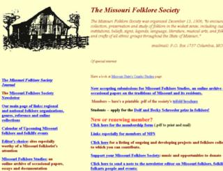 missourifolkloresociety.truman.edu screenshot