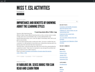 misstesl.edublogs.org screenshot