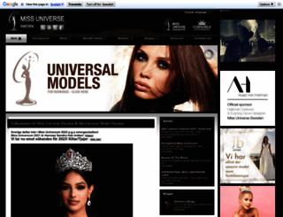 missuniverse-sweden.com screenshot